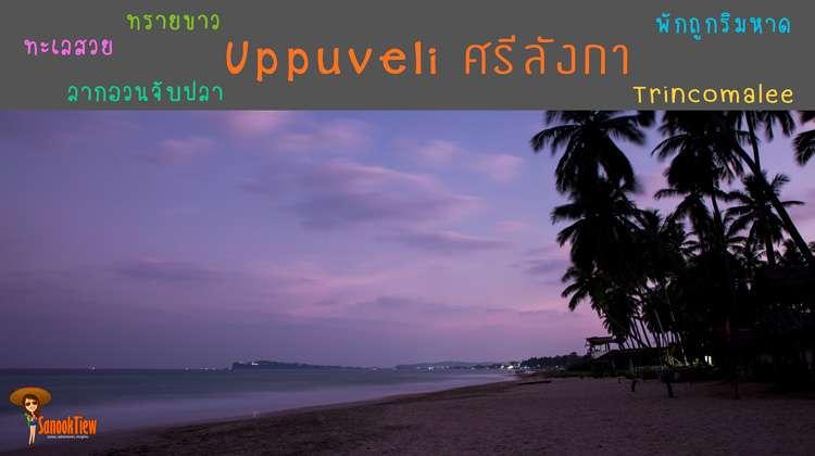 Uppuveli หมู่บ้านเล็กๆ ริมทะเล ใกล้ Trincomalee ศรีลังกา