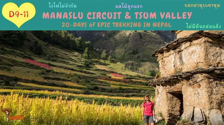 เมื่อมีอินเตอร์เน็ต กับ ผลไม้ลูกแรก ใน Manaslu Circuit และ Tsum Valley (5)